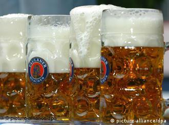 Mehrere Biergläser