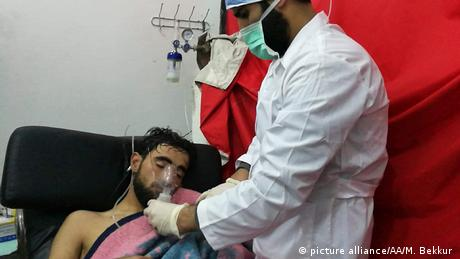 Giftgasangriff des Assad-Regimes in Idlib (picture alliance/AA/M. Bekkur )