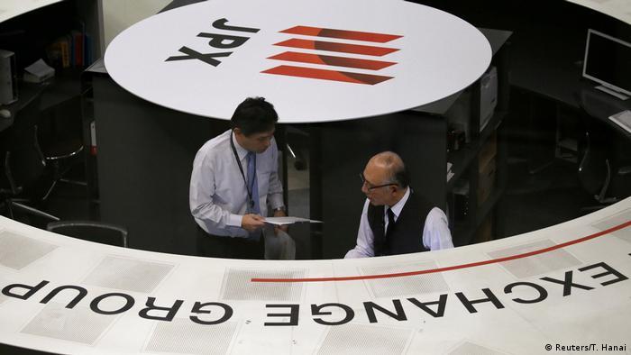 Employees of the Tokyo Stock Exchange