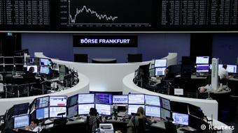 Торговый зал Франкфуртской биржи