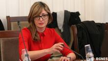 bulgarische Außenministerin Ekaterina Zaharieva