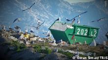 Bildbeschreibung: Müllkontainer Karepovac in der Nähe von Split