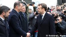 Emmanuel Macron und Gilles Simeoni Korsika