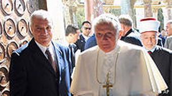 Pope Benedict XVI visits the Al-Aqsa Mosque compound