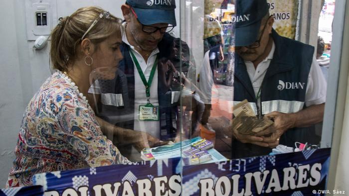Money changers in Cucuta, Colombia on the Venezuelan border