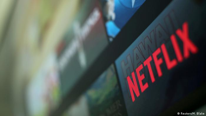 The Netflix logo is pictured on a television in this illustration photograph taken in Encinitas, California,
