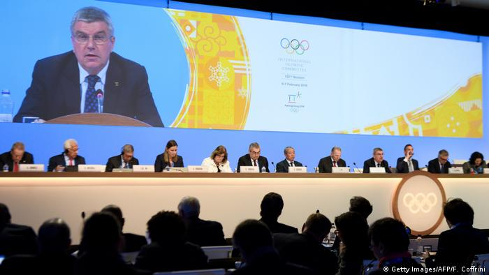Olympisches Komitee IOC - Präsident Thomas Bach (Getty Images/AFP/F. Coffrini)