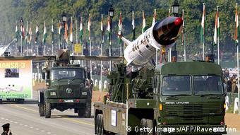 Ракета с ядерной боеголовкой на параде в Индии (фото из архива)