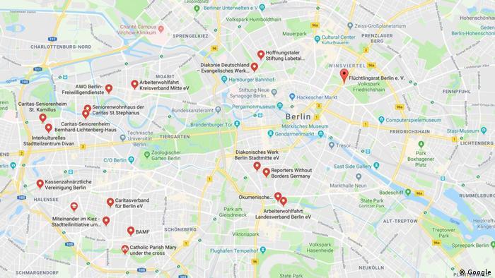 Screenshot GoogleMaps - Asylheim in Berlin (Google)