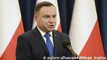Andrzej Duda speaking (picture-alliance/AP Photo/A. Keplicz)