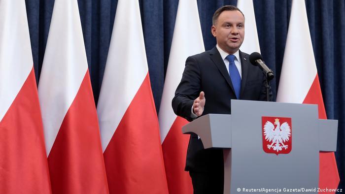Polen Präsident Andrzej Duda zu Entscheidung zu Holocaust-Gesetz (Reuters/Agencja Gazeta/Dawid Zuchowicz)