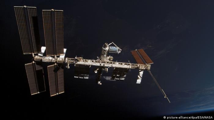 Internationale Raumstation ISS nach dem Ablegen der Raumfähre «Atlantis» (picture-alliance/dpa/ESA/NASA)