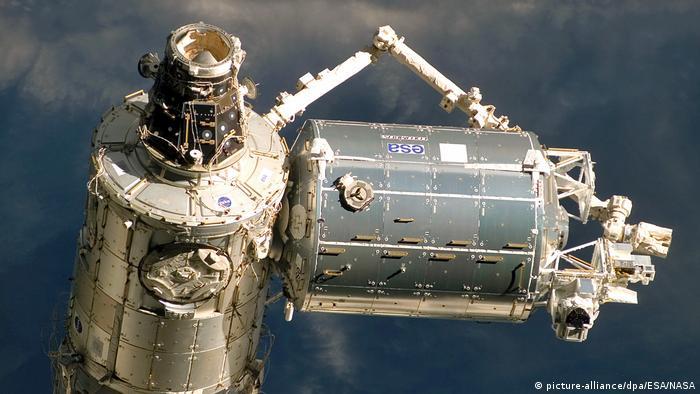 Internationale Raumstation ISS nach dem Ablegen der Raumfähre «Atlantis» (picture-alliance/dpa/ESA/NASA)