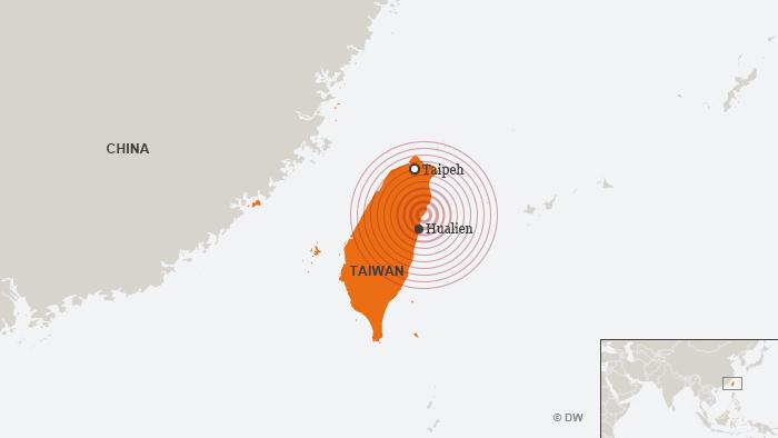 Karte Erdbeben Taiwan Hualien DEU