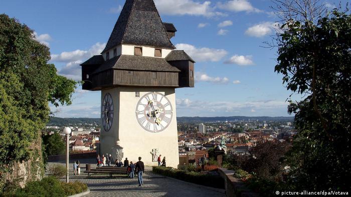 Los relojes más bellos de Europa. Torre de reloj, Graz Austria