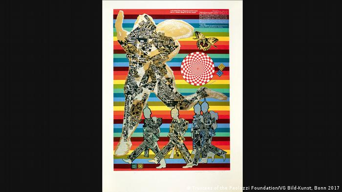 The Eduardo Paolozzi collage, As is When: Wittgenstein the Soldier, 1965 (Trustees of the Paolozzi Foundation/VG Bild-Kunst, Bonn 2017)