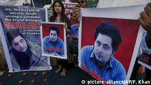 Pakistan Proteste nach Lynchmord Student Mashal Khan (picture-alliance/AP/F. Khan)