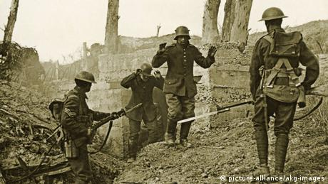 In the movie All Quiet on the Western Front, German soldiers surrender during the First World War