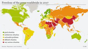 Infografik 2017 World Press Freedom Index ENG