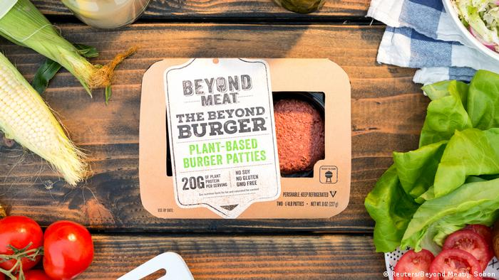 the Beyond Burger, which is made of plants and contains no animal products.