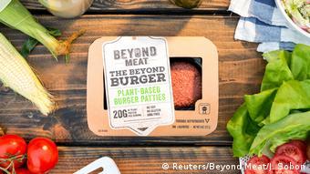 Μπέργκερ από φυτικό κιμά της εταιρείας Beyond Meat