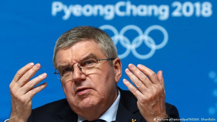 Südkorea PK IOC-Präsident Thomas Bach in Pyeongchang