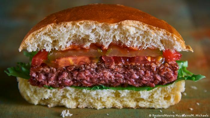 Photo of a meatless burger