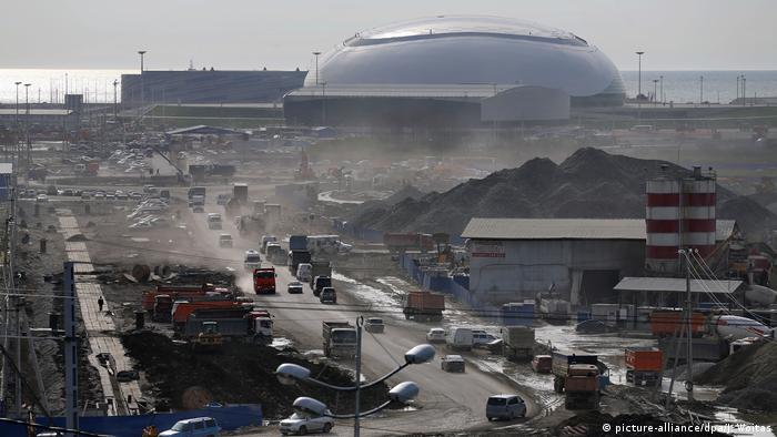 Construction site of the Sochi Olympic games (picture-alliance/dpa/J. Woitas)
