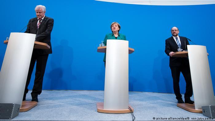 Пресс-конференция после переговоров ХДС, ХСС и СДПГ