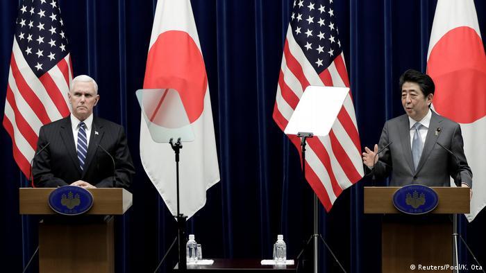 Japan Tokio US-Vizepräsident Pence (Reuters/Pool/K. Ota)