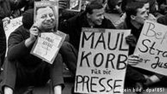 Deutschland Geschichte Kultur Presse Spiegel-Affäre Demonstration in Frankfurt