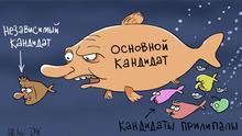 DW Karikatur von Sergey Elkin | Präsidentschaftswahl in Russland