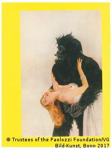 Paolozzi's 'Bunk: Vogue Gorilla with Miss Harper' from 195