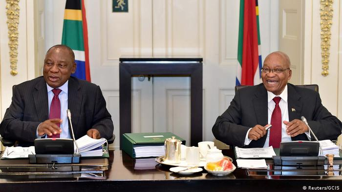 Current and former South African Presidents Cyril Ramaphosa and Jacob Zuma (Reuters/GCIS)
