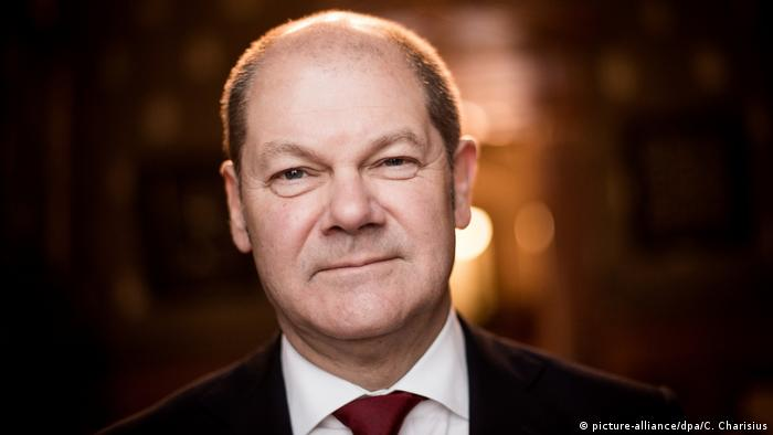 Hamgburg Mayor Olaf Scholz, SPD