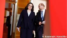 Deutschland Koalitionsvertrag in Berlin | SPD Schulz & Nahles