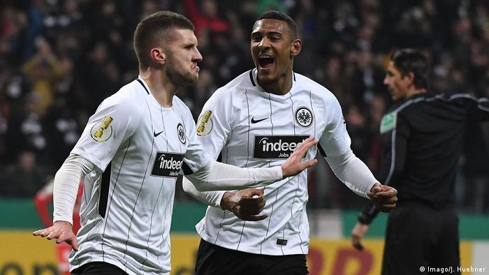 DFB-Pokal, 2017/18, Viertelfinale | Eintracht Frankfurt vs. 1. FSV Mainz 05 | TOR Frankfurt (Imago/J. Huebner)