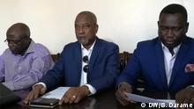 Direktion PRS Partei von Guiné-Bissau Partido da Renovação Social Im Zentrum Victor Pereira Sprecher von PRS