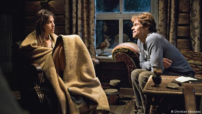 Film still from 'Antichrist': Charlotte Gainsbourg and Willem Dafoe in a living room (Christian Geisnaes)