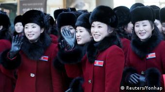 Pyeongchang Ankunft Nordkorea-Delegation