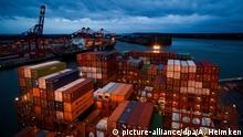 Hamburg Container auf der «Barzan» von Hapag Lloyd