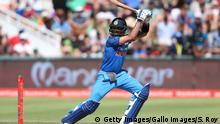 CAPE TOWN, SOUTH AFRICA - FEBRUARY 07: Indian captain Virat Kohli plays a delivery down towards the boundary during the 3rd Momentum ODI match between South Africa and India at PPC Newlands on February 07, 2018 in Cape Town, South Africa. (Photo by Shaun Roy/Gallo Images/Getty Images)