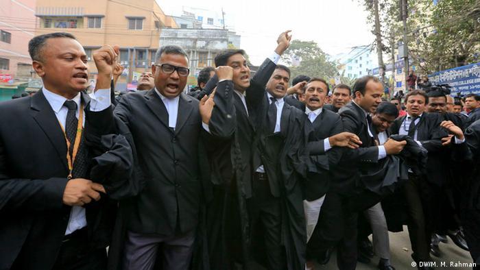 Bangladesch Prozess gegen Ex-Regierungschefin Khaleda Zia (DW/M. M. Rahman)