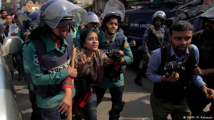 Protests in Bangladesh against opposition leader Khaleda Zia's arrest