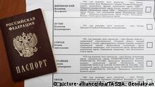 Russland Präsidentswahlen | Wahlzettel