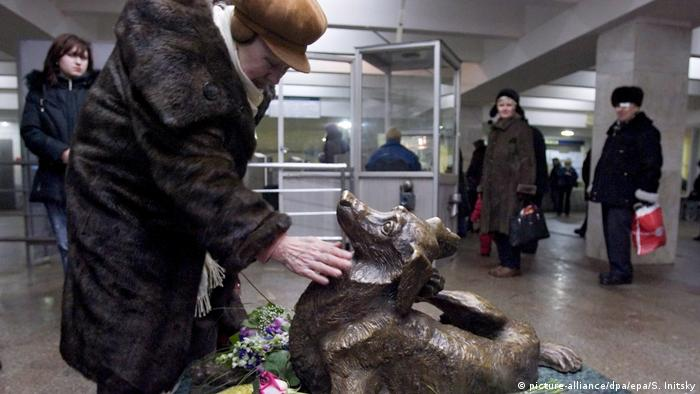 Памятник Мальчику в московском метро