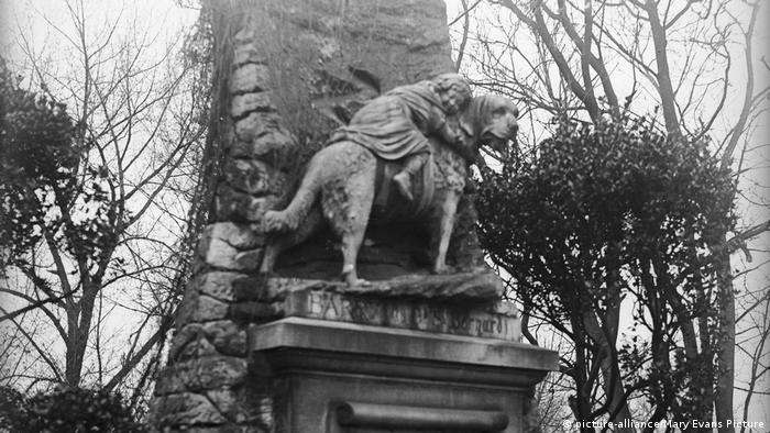 Памятник сенбернару в Париже