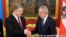 Österreich Treffen vom Präsident Alexander Van der Bellen mit ukrainischem Staatschef Petro Poroschenko