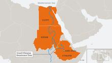Infografik Karte Grand Ethiopian Renaissance Dam ENG