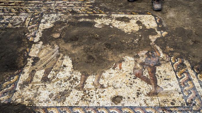 Mosaico descoberto em Israel